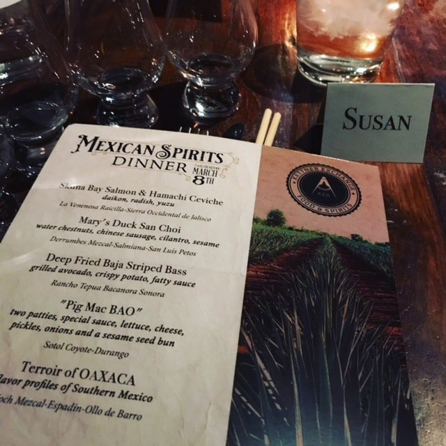 Paired dinners and why mezcal works with anything