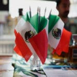 Mexican flags on full display