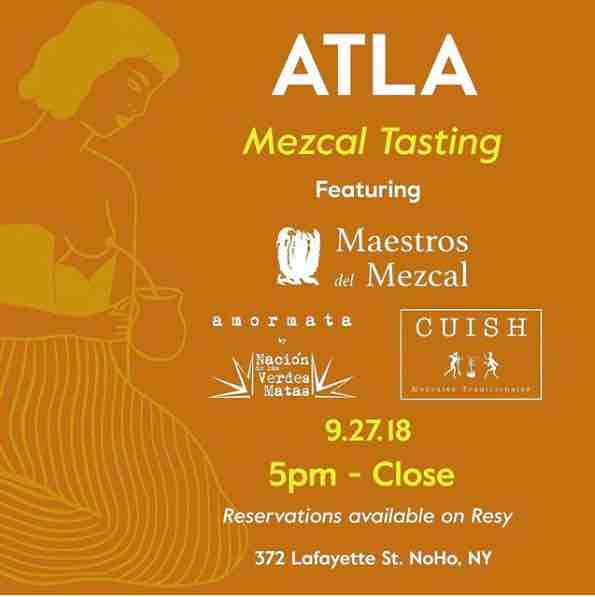 Mezcal tasting at ATLA – NYC
