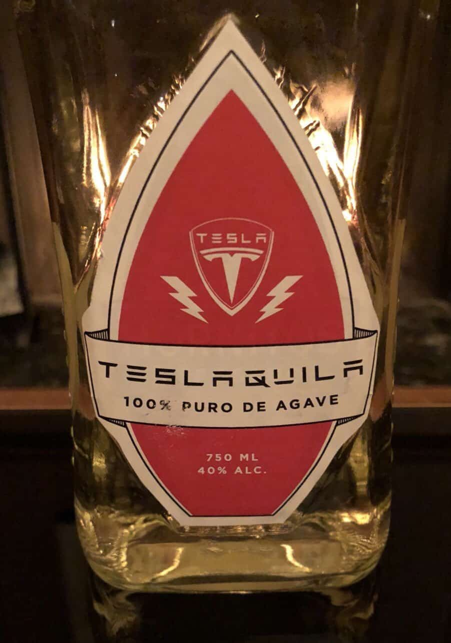 Teslaquila bottle