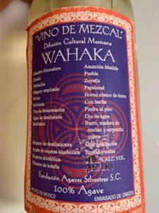 The label of the Fundación Agaves Silvestres bottling of Asunción Matilde's Papalomé.