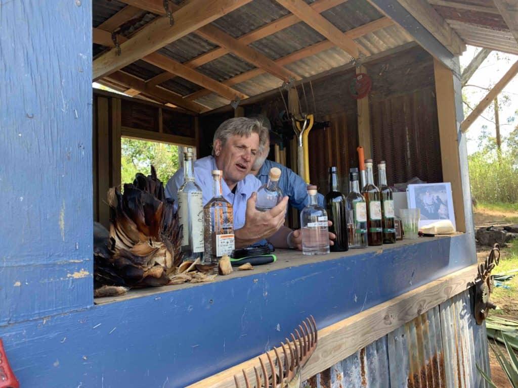 Craig Reynolds behind the bar