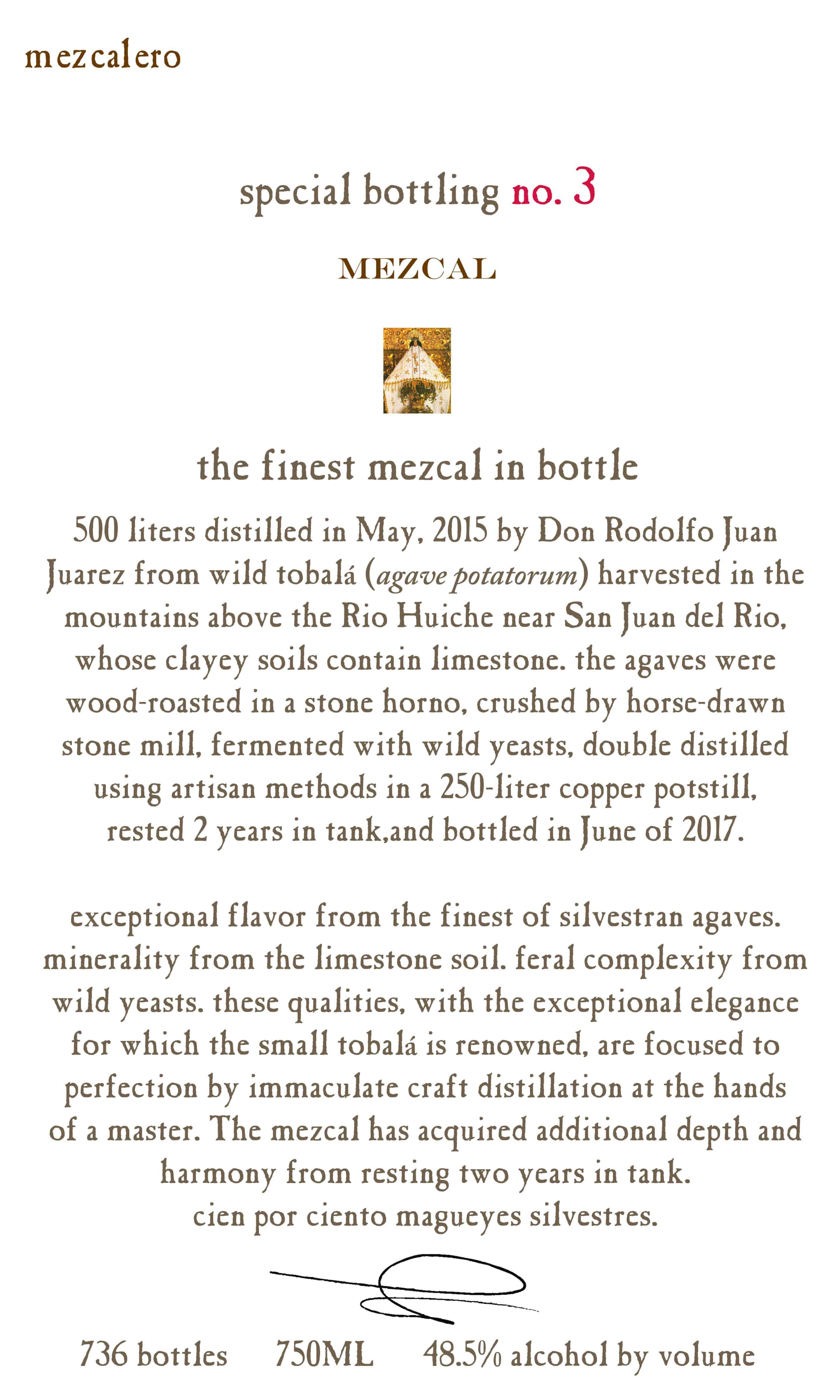 Mezcalero Special Bottling #3